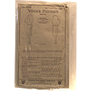SOLD Vogue 1928 Ladies Dress Pattern 18 Years 36 Bust