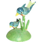 Vintage German Erzgebirge Mother and Baby Blue Bird for your Doll House