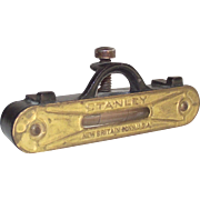 Brass and Cast Iron Line Pocket Level by Stanley Patented 1896