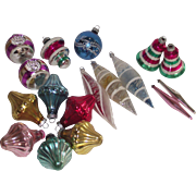 SOLD 17 Pc. Mixed Collection Dbl Indents Bells Tear Drops & More Most are Shiny Brite Some Wes