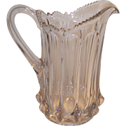SALE Victorian EAPG Paneled Water Pitcher 3 Piece Mold