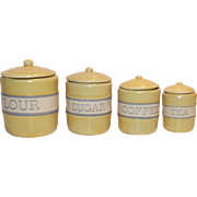 Childs Doll House 4 Piece Canister Set  Made by Tender Heart Treasures for the American ...