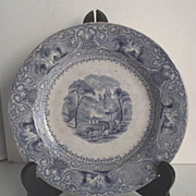 "SOLD Wedgwood Light Blue Transfer 8"" Plate Circa 1860s"