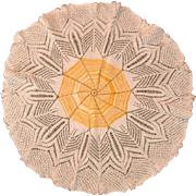 "Spider Web Hand Crotchet  24"" Diameter Table Doily"
