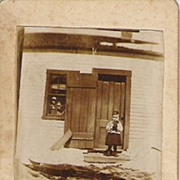 Early Brown and White Sepia Real Photo Young Children Quebec