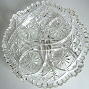 Brilliant Period Cut Glass Small Shallow Bowl