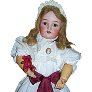 """22"""" Kammer Reinhardt with Rare Voice Box & Pull Cords. Antique Bisque Head Doll. Head by"""