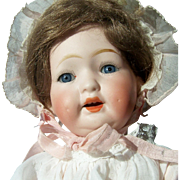 """10"""" Antique Bisque Head Baby Doll. Morimura Brothers, Japan. Display Ready. Adorable"""