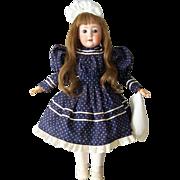 """24"""" Schoenau Hoffmeister Antique German Bisque Head Doll. Display Ready. Very Sweet"""