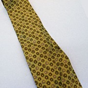 SALE GIORGIO ARMANI Sage Multi Flower Power Print Silk Tie