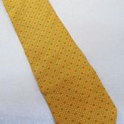 SALE GIORGIO ARMANI  Khaki Rust Mini Foulard Bias Print Silk Tie