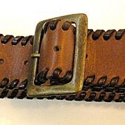 SALE DOLCE & GABBANA Sun Disc Coin Leather Belt