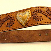 SALE Passementrie and Heart Detailed Western Belt