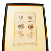 SALE PENDING Modes De Paris Milliner's Hat Advertising Sketch-Matted and Framed
