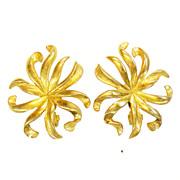 SALE MONET Patented Lever Back Wild Flower Stalk Earrings