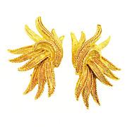 SALE OSCAR DE LA RENTA Dramatic Flying Ribbon Climb Your Ear Earrings