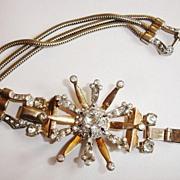 SALE Mazer Sterling Cosmic Starburst Bracelet with Rhinestones