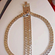 SALE My Favorite Trifari Snake Chain Necklace and Bracelet Set 1940's