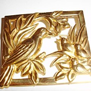 SALE Coro Sterling Bird Figural Picture Frame Brooch