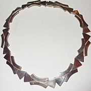 SALE Modernist Reveriano Castillo Mexican Sterling Choker Necklace