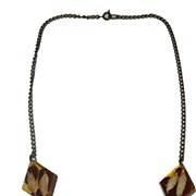 SALE Leaf and Floral Embedded Lucite Necklace