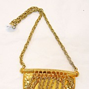 SALE DONALD STANNARD Giant Fringed Shield Pendant Necklace