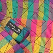 SALE BRIGADE SPECIALE Paris High Lycra Content Brightly Patterned Crepon Textured Jacquard Leg