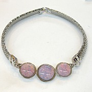 SALE PIERRE CARDIN Long Resin Lozenge Rectangular Chain Pendant Necklace
