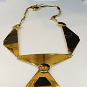 SALE Modernist Sculptural Space Age Segmented Necklace