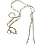 SALE THIERRY MUGLER Solid Triangular Peanut Pendant Necklace with Rhinestones