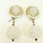 REMYDIS PARIS Rock Candy Drop Disco Ball Matte Finish Earrings