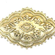 SALE KARL LAGERFELD Pewter Color Etruscan Revival Brooch