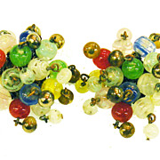 SALE Made in Japan Funky Colored Popping Bead Earrings