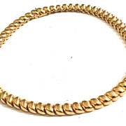 SALE CINER Twisted Rope Like Goldtone Metal Classy Classic Necklace