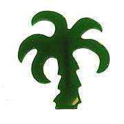 SALE Vintage Green Plastic Palm Tree Brooch