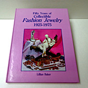 50 Years of Collectible Fashion Jewelry 1925 - 1975.  Great Reference.  Mint condition.