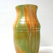 Beswick Ware Vase.  Made in England.  Orange & Lime Colors.  Beautiful.  Perfect Condition.