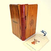SOLD Olive Wood & Leather Covered Roman Missal.  1954.  Bethlehem.  Wonderful ++.