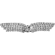 """Winged Rhinestone Brooch.  3 ¼"""" wide.  Back numbered. Gorgeous.  As New."""