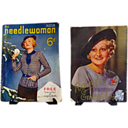 SALE 1935 Needlewoman English Magazine.  Fashion. Patterns.  Ads.