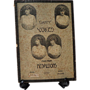 Dainty Yokes Made From Medallions #7.  1900 Crochet  + Partial #6 Yokes of Beauty.