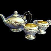 Silver Tea Service.  Smaller.  Apartment / Condo Size.  3 Pieces. Beautiful.  Perfect Conditio
