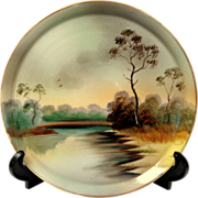 Hand Painted Nippon Dish.  Shallow, Flat Tray.  Exquisite.