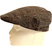 SOLD Made in Scotland 100% Wool Tweed Hat.  Quality.  Mint Condition.