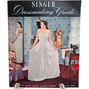 Singer Dressmaking Guide.  1948.  Superb Teaching Reference.  Techniques.  Near Fine Condition