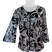 Evening Jacket.  Black & White. Super Chic.  Size Large.   As  New Condition.