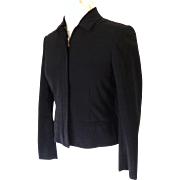 RALPH LAUREN Short Jacket.  Black.  Size 6 Petite.  As New Condition.