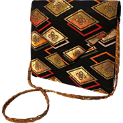 Designer DIANE LOVE Convertible Envelope Clutch and Shoulder Bag.  Exquisite.  As New Conditio