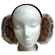 Genuine Raccoon Fur Earmuffs.  Lined with Genuine Mouton.  Gorgeous.  As New Condition.