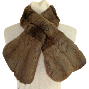 Made in Scotland. Genuine Fur Cross-over Collar. Russian Squirrel.  Exquisite Lining.  Near Fi